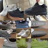 Wholesale Hot Wailly Quality Boost Running Shoes Pirate Black Moonrock Tan White Sports Shoes Kanye West Boosts Casual Shoes