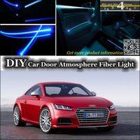 audi tt tuning - interior Ambient Light DIY Tuning Atmosphere Fiber Optic Band Lights For Audi TT TTS Door Panel illumination Refit