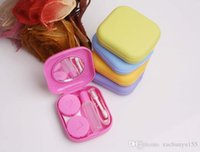 Wholesale Porfessional Pocket Mini Contact Lens Case Travel Kit Easy Carry Mirror Container Holder preferential HY712