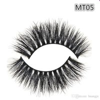 Wholesale Natural Eye Lashes Makeup Handmade Thick Fake Eyelashes Beauty False Eye lashes Real Siberian D Mink Strip Lashes MT005