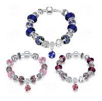 antique tin cans - 3 colors can be selected Antique Silver Original Women crystal Charm Bracelet Fit Charm Bracelet Good quality