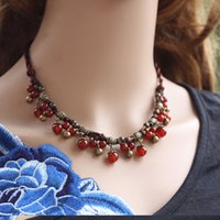 acrylic characteristics - Cheap Bohemian Ethnic Characteristics Neacklaces Agate Rope Chain Multi Color For Fashion Women Pendants Match Summer Dress