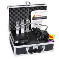 Wholesale Cheap Enail Mini E Quartz Nail Electric Dab E Nail Box Kit With Quartz Nail MM Male Fancier Temperature Controller Box Rig glass Bongs