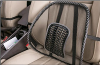 Wholesale NEW arrival Hot Sell Black Cool Car Seat Chair Back Lumbar Support Mesh Ventilate Massage Cushion Pad