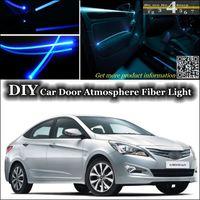 band excel - interior Ambient Light Tuning Atmosphere Fiber Optic Band Lights For Hyundai Excel Pony Brio Avega Fluidic Car Door Panel illumination Refit