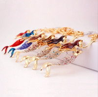 beauty gift bags - Mermaid Beauty Sea Girl Fish Pendant Charm Crystal Purse Bag Car Key Ring Chain Friend Girl Wedding Party Gift