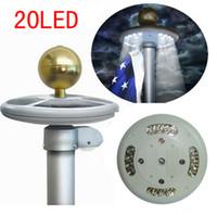 Cheap New 20LEDs Solar Post Lights Flagpole Light Garden Lanyard Decro LED Spot Post Lamps Outdoor Lighting