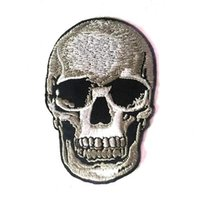 Wholesale 2 inch HOT SALE Sons of Anarchy Iron On Patches Skull Made of Cloth Guaranteed Quality Appliques sew on patch GPS