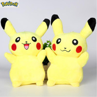 best stuffed animal - EMS Pikachu Plush dolls cm inch Poke plush toys cartoon poke Stuffed animals toys soft Christmas toys best Gifts