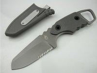 bear grylls - G B GRYLLS GB Bear Bell hunter survival small straight knife folding knife knives freeshipping