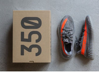 big red box - Top Factory SPLY Boost V2 Big size Boost Stealth Grey Beluga Solar Red BB1826 With Box Kanye West Running Shoes