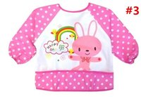 Wholesale Cute Baby Toddler Childen Waterproof Long Sleeve Bib Apron For Boy Girl Brand new and high quality