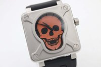 airborne band - 2016 Limited Edition BR Brand Quartz Watch Men Skull Dial Rubber Band Tourbillon Airborne Watch Hkpost