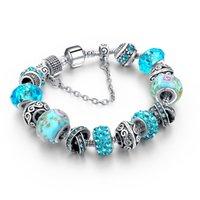 amp jewelry - 2016 Fashion European Crystal Charm Bracelets For Women Silver Chain Bracelets amp Bangles DIY Jewelry Pulseras SBR160014