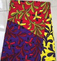 african print material - multicolors flower African ankara style cotton fabric material for sewing wax prints hollandais jacquard for dress