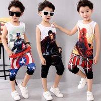 baby sports bottle - Kids Summer Clothes Boys Cotton Captain America Clothing Sets Boys d T shirt Pants Baby Boy Clothes Sport Suits