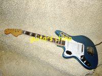 Wholesale Left Handed Blue Strings Jaguar Electric Guitar OEM guitar
