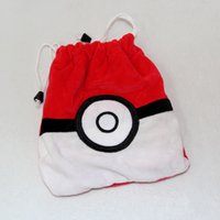 Wholesale Anime Series Poke mon Pikachu Plush Toys Poke mon Plush Drawstring Bag Drawstring Girl Cosmetics Pouch Birthday Gift