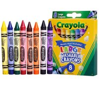 Wholesale 100sets Hot kids toys Education Toys Drawing tools Crayola Green washable Crayons Virtual Design Pro Fashion Christmas Gifts for Children