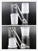 Wholesale KKDUCK drop down glass downstem glass dropdown dorp glass dab glass water pipe bong mm female to mm female