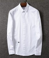 Wholesale D HOMME luxury brand france famous branded men long sleeve shirt male top quality
