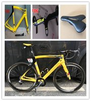 Wholesale Hot Sale Yellow chris froome F8 Carbon Complete Road Bike Clearance DIY Bike With Ultegra Groupset