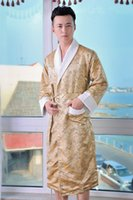 bamboo nightgowns - Top Deal Super Soft Silk Cotton Bamboo Men Bathrobe Nightgown For Men