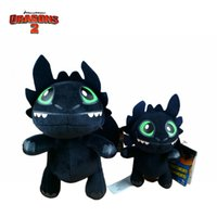 animation training - Carton dolls Plush toys How to Train Your Dragon Toothless Night Fury Q version of the Blue Dragon classic animation baby toys