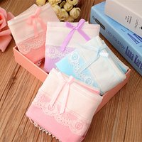 Wholesale Women Panties Mixed colors pieces fashion lady panties cotton Lace Bow girls underwears woman underwear B809