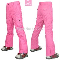 Wholesale womens pink ski pants red light blue snowboarding pants outdoor sports trousers skating pants ski jupon waterproof K XS L