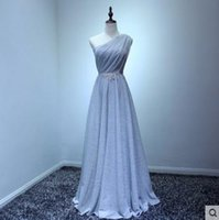 sister of the bride dress - Party dress the bride bridesmaid dresses and sisters skirt teamed host female costumes party late outfit of inclined shoulder gray Elegant