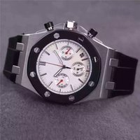 Wholesale Top Quality luxury sapphire watches AP AUDEMARS ROYAL OAK OFFSHORE CHRONO STAINLESS STEEL BLACK RUBBER Automatic Men s Watch Watches