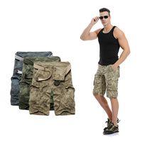 Wholesale Summer Men s Cotton Washed Multi Pockets Camouflage Cargo Shorts Work Pocket Camo Shorts Casual Cargo Shorts