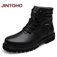 big grains - JINTOHO Big Size Men Leather Boots Winter Warm Men Motorcycle Boots Real Leather Men Ankle Boots Glitter Genuine Leather