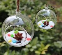 Wholesale Glass Hanging Vase Tabletop Vases Terrarium DIY Home wedding christmas Deco Transparent Diameter cm inch