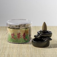 Wholesale 2016 Two box Chinese Pure Natural Incense Argy wormwood Backflow Smoke Fow Hollow particl of a box of tablets