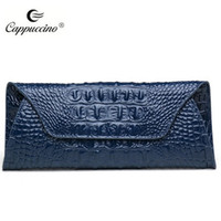 Wholesale 2016 new fashion handbag leather with Crocdile design women blue brand name Cappuccino office lady need