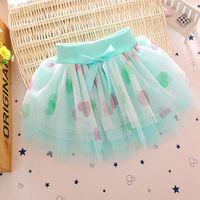 Wholesale 2016 Summer new baby skirts girls dot print children gauze ball gown skirt children s clothing B003