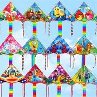 Wholesale Outdoor2016 New fun sports cartoon Kite modern maple flying Cartoon kids Flying Kite Princess Minions Kids Kite