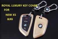 Wholesale Royal Luxury Car Styling Key Cover ring with Buckle FOR NEW X5 X6 KEY HOLDER COVER