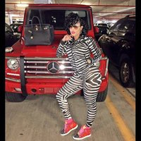 Wholesale 2016 new fashion sweater pencil pants suit European and American cotton pants suit Printing Slim striped two piece TracksuitsB