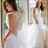 Wholesale 2016 autumn new European halter deep v neck Princess Bride small tail wedding dress