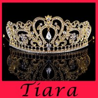 crown - New Wedding dress crown wedding crystal tiaras crowns Hair claw clips Hairband bridal noble Bridesmaid Rhinestone Pearls BAROQUE PEARL