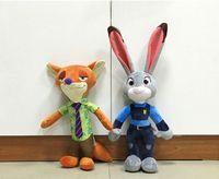 big city movie - EMS Zootopia inch inch Crazy animal City Plush Toys NEW children cartoon cm cm Nick Wilde Judy Hopps Plush Toy Doll