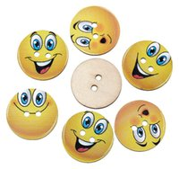 Wholesale DHL Wooden Button Colored Pattern Wooden Button Lavender Dragonfly Emoji DIY Clothing Cushion Wooden Button