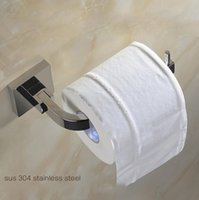 Wholesale Bathroom Accessories Stainless Steel Toilet Paper Holder Tissue Bath Towel Wall Mounted Chrome Finishes Hanger
