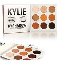 best pressed powder makeup - 2016 New Kylie Jenner Cosmetics Bronze Eyeshadow Kyshadow Palette Pressed Powder Kit Long Lasting Matte Colors in Best Gift Makeup