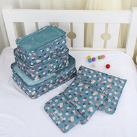 Wholesale 6PCS set Travel Luggage Packing Bag Organizers Wash Bags Anti Dust Portable Storage Bags Clothes Socks Shoes Cosmetic Pouch Packing Cubes