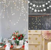banner stands - 4M Star Paper Garland Banner Bunting Drop Hanging Photo Booth Props Handmade Crafts Baby Shower Wedding Party Hom Decor Events Decoration