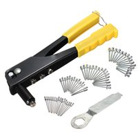 Wholesale High Quality set Pop Riveter Gun Kit Blind Rivet Hand Tool Set Gutter Repair Heavy Duty